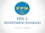 Investment Banking Lecture 4