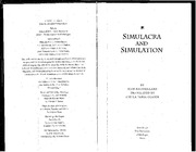 Baudrillard_Simulacra and Simulation