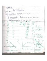 Econ Notes: Chap. 10-11