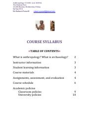 Anthropology Syllabus