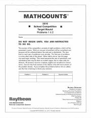 MathCounts-2016-Target (School).pdf
