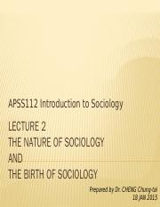 APSS112_L2_The nature and birth of sociology.pptx