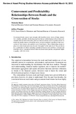 [JoAP] Comovement and Predictability Relationships Between Bonds and the Cross-section of Stocks (Fi