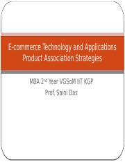 Product association strategies