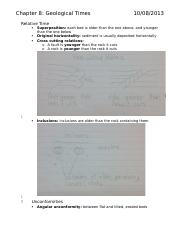 #8 Notes Geological Times 1022a Earth Science Chapter 8.docx