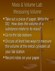 Mass and Volume Lab.ppt