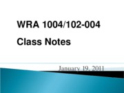 wra 1004 January_19-Writing_Process