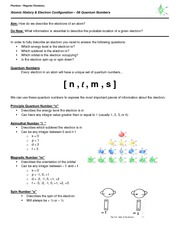 06 Notes - Quantum Numbers