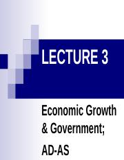 Lecture 09 - Economic Growth and Government_ Aggregate Demand and Aggregate Supply
