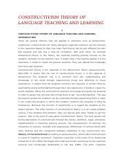 CONSTRUCTIVISM THEORY OF LANGUAGE TEACHING AND.docx