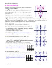 6.1 slope field worksheet (1) - AP Calculus BC NOTES 6.1 Slope Fields Differential Equation An equation involving a derivative is called a differential