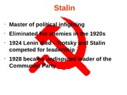 Stalin Quiz Review