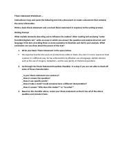 Thesis Statement Worksheet.do