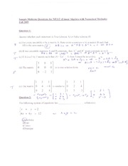 Practice Midterm Questions_2009_and_solutions