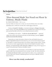 'Five-Second Rule' for Food on Floor Is Untrue, Study Finds - The New York Times.pdf