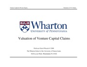 07 - Valuation of VC Claims