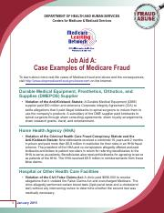 Job Aid A_Case Examples of Medicare Fraud.pdf