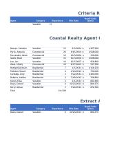 Coastal Realty Agent Commissions Chapter 6 Tutorial 1
