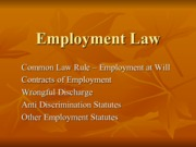 NewEmployment Law