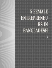 5 female entrepreneurs in Bangladesh