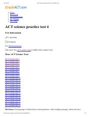 ACT science full-length practice test 22_CrackACT pdf - ACT science