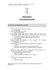 Tut 6 Licences and informal trusts tutorial sheet.doc