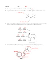quiz 1 key - orgo