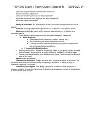 PSY 260 Exam 2 Study Guide.docx