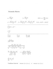 Stat 252 Formulas and Tables