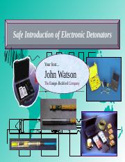 ElectronicDetonators.ppt