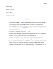 Baker N Essay Outline 1