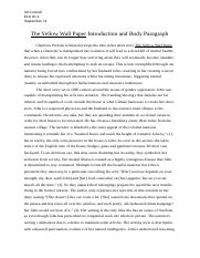 The_Yellow_Wall_Paper_Introduction_and_Body_Paragraph