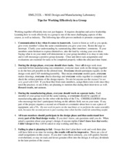 EML2322L Tips for Working Effectively in a Group
