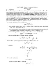 Exam 3 Version 2 Solutions