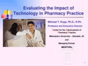 Technology impact to Pharmacy