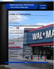wal mart stores inc dominating global retailing Wal-mart stores inc: dominating global retailing the retail industry in the us has become saturated, and the market is control by a few big retailers they all.