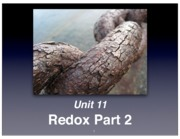 Unit 11 Redox Notes