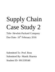 Supply Chain Case Study 2.docx
