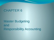 CH06_part1 Master Budgeting