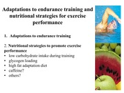 6. Adaptations to exercise and nutritional strategies