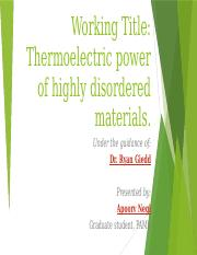 Thermoelectric power of highly disordered materials11.pptx