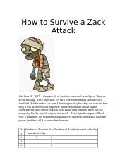 zombie.docx - Name Per Date How to Survive a Zombie Attack ...
