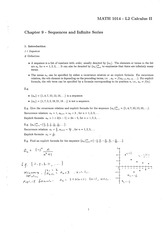 Chapter 9 - Sequences and Infinite Series [Ans]