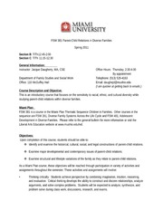 FSW 381_Parent Child Relations  in Diverse Families Syllabus_Spring 2011_1
