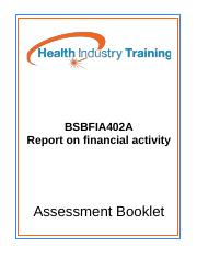 BSBFIA402A-Report-on-financial-activity