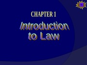 Ch01 -- Introduction to Law