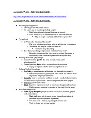 Lecture Notes - Janurary