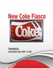 failiure of new coke essay Product failure ( the new coke ) this option requires the student to perform a literature review of a well-known project success or failure and custom essay.