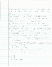 Final Review Problems; Power, Bouyancy, Efficency, Wave Equation