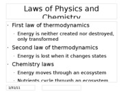 Laws of Physics and Chemistry
